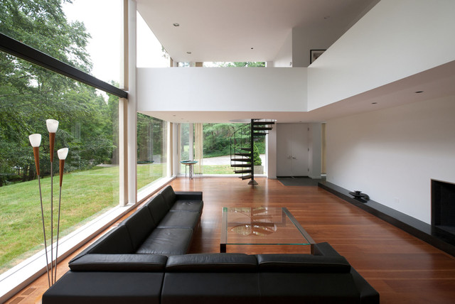 Captivating Restored 1969 Modern Glass House Modern Living Room