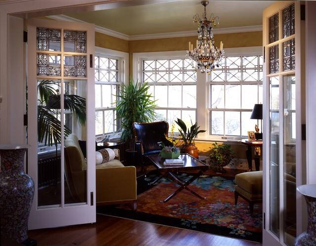 Restored First Floor Sunroom traditional-living-room