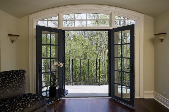 Retractable door and window screens at the scottish manor for Phantom french door screens