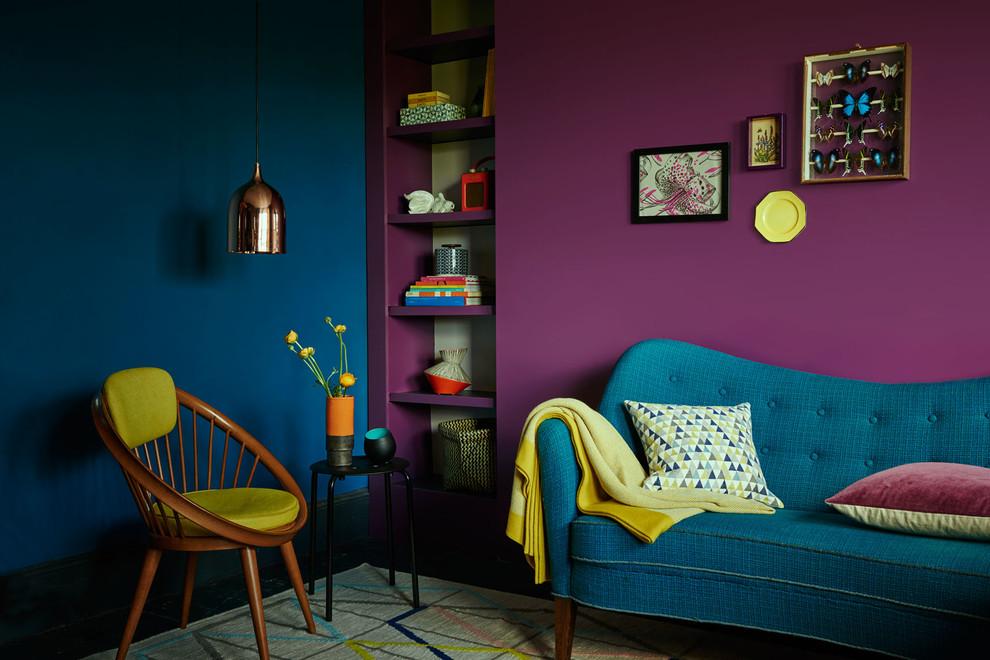 Eclectic living room photo in Berkshire