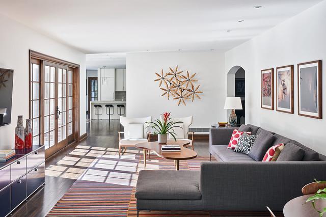 Revived Tudor - Transitional - Living Room - Kansas City - by Hufft