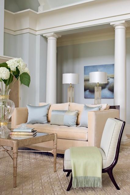 Ri ocean home on the ocean traditional living room for Plum living room designs