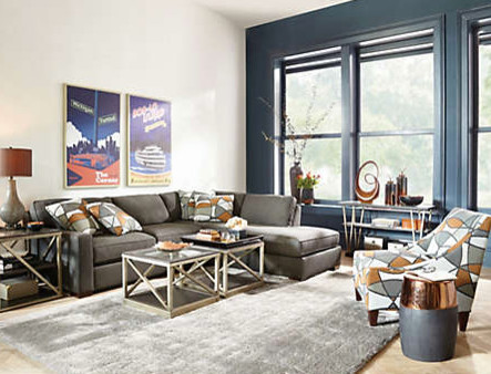 Rich And Dramatic Living Room Living Room Detroit By Art Van Furniture