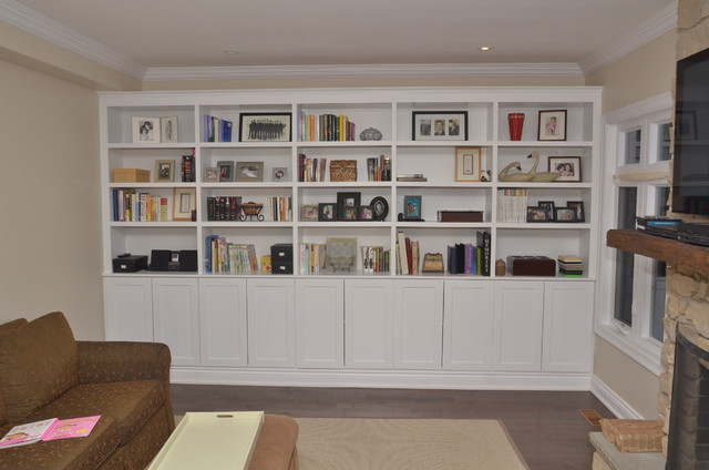 Living room wall units with storage