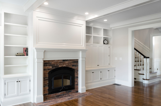 Living room - traditional living room idea in Cleveland