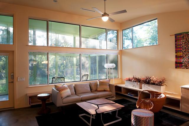 Ridgeway Residence Contemporary Living Room Austin