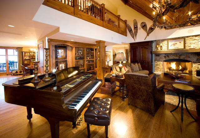 Ritz-Carlton at Bachelor Gulch Penthouse rustic-living-room