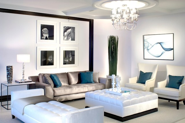 Interior Designers Decorators RITZ CARLTON Contemporary Living Room