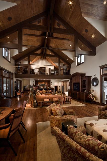 River Bend Ranch Rustic Living Room Salt Lake City by