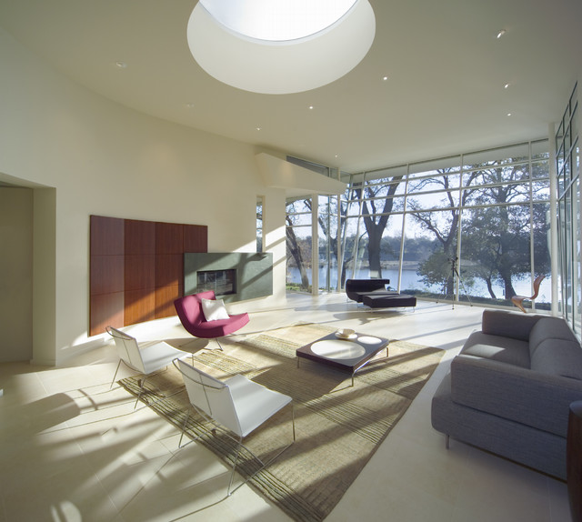 modern living room by Mark Dziewulski Architect