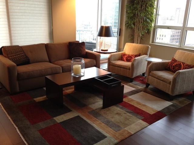 River North Condo - Living Room contemporary-living-room