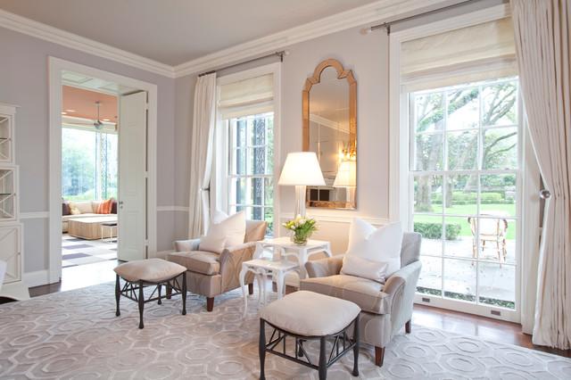 River Oaks Residence Transitional Living Room