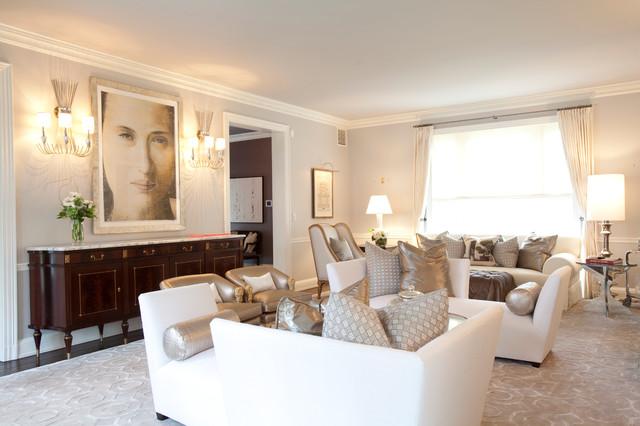 River Oaks Residence transitional-living-room