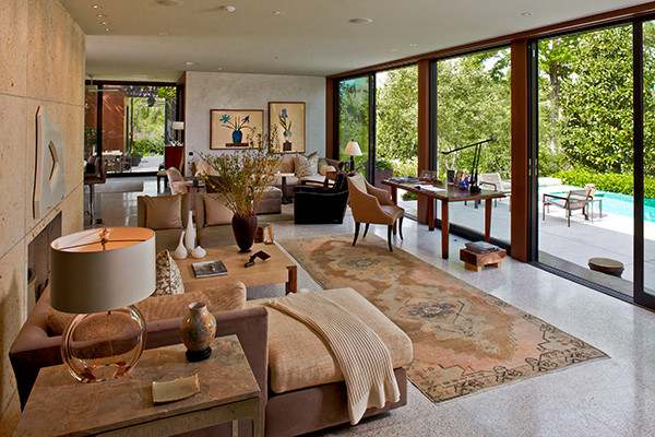 River Oaks Midcentury Living Room Houston By Ysl
