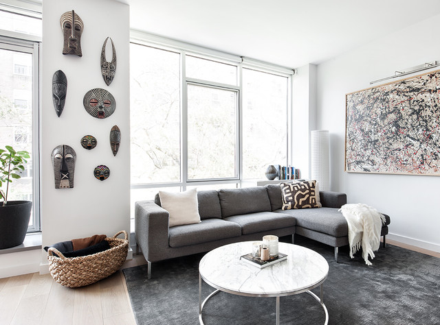 Riverdale modern eclectic Modern eclectic living room