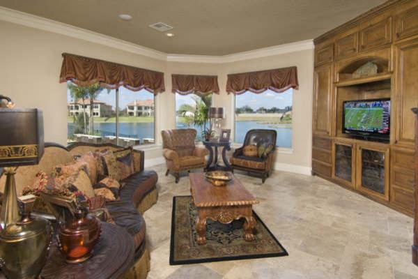 Riverstone Showcase mediterranean-living-room
