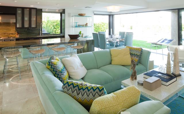 Robert Bailey Interiors contemporary-living-room