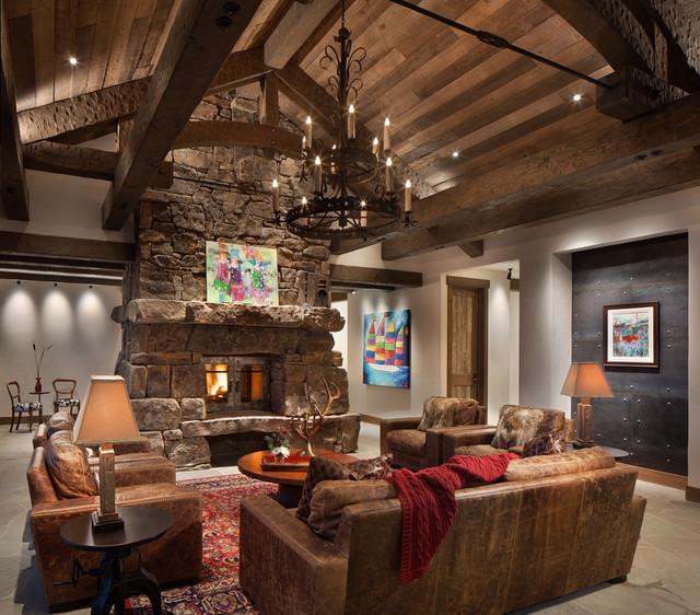 Lake House Living Room Decor: Robertson Lake House