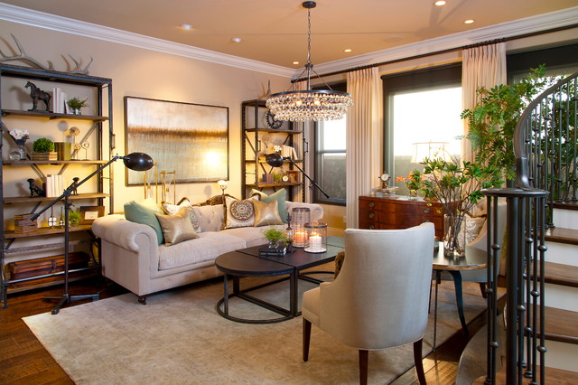 Robeson Design Transitional Style Living room Contemporary
