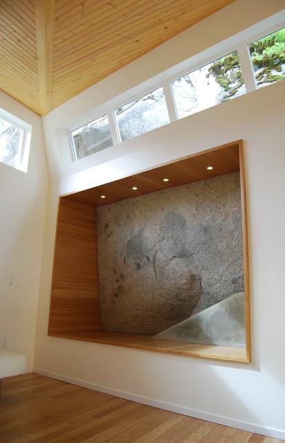 Modern Bay Window rock bay window - modern - living room - vancouver -sandrin