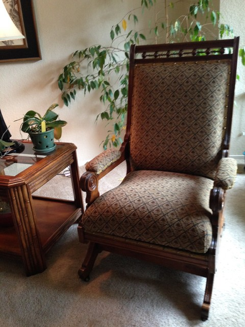 Rocking Chairs, Reupholstered - Victorian - Living Room - Sacramento ...
