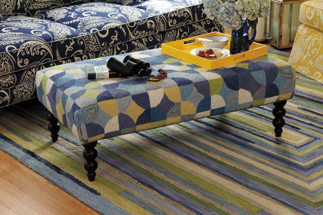 Rockport Rug Ottoman Traditional Living Room Boston