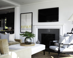 Rocky Ledge Living Room with Fireplace transitional-living-room