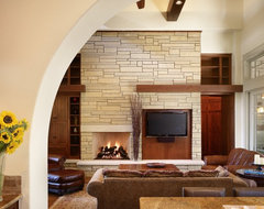Rocky River Living craftsman-living-room