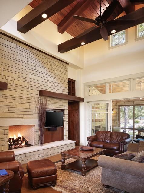 Rocky River Living craftsman-living-room