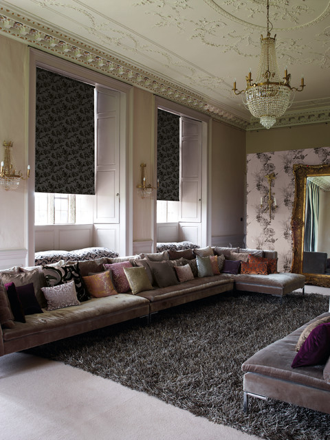 Roller Blinds with a twist traditional