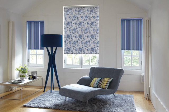 Roller Blinds With A Twist Contemporary Living Room
