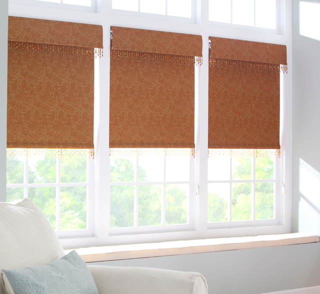 Roller Shades - Transitional - Living Room - detroit - by ADVANTAGE ...