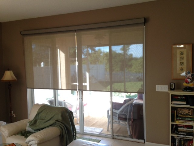 Roller Shades By Enlightened Style Traditional Living Room Orlando By