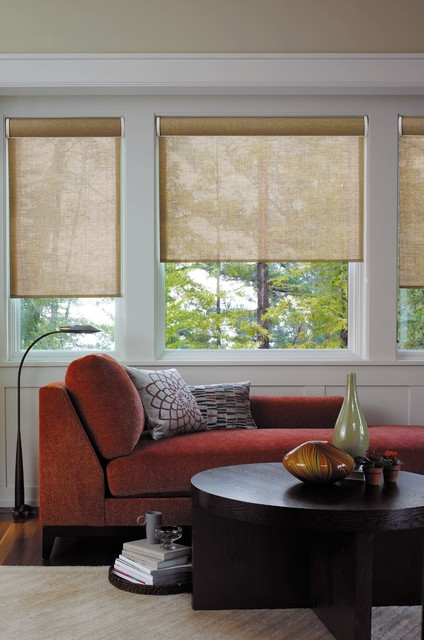 Roller Shades Contemporary Living Room Detroit By Josel Blind Co Inc