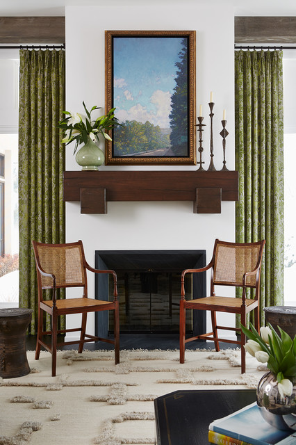 Rolling green traditional living room minneapolis for Green traditional living room