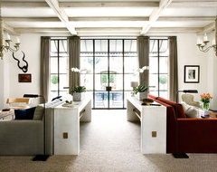 ROMA's Limewash used by Stanley Dixon and Betty Burgess in Atlanta Home industrial-living-room