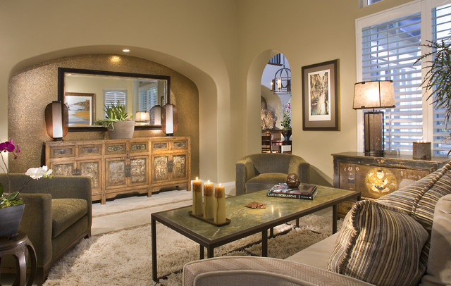 Roman Holiday Contemporary Living Room San Diego