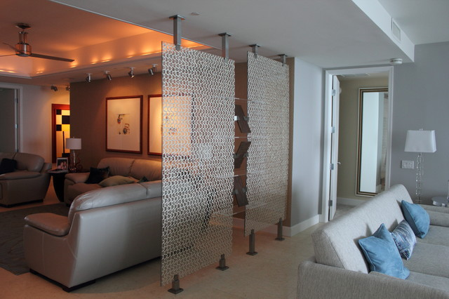 Room divider contemporary living room miami by fd for Living room partition