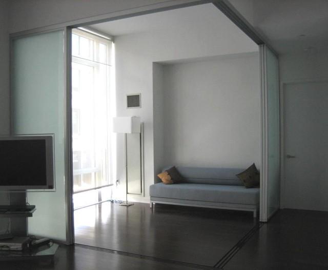 Room dividers - Hanging sliding room divider ...