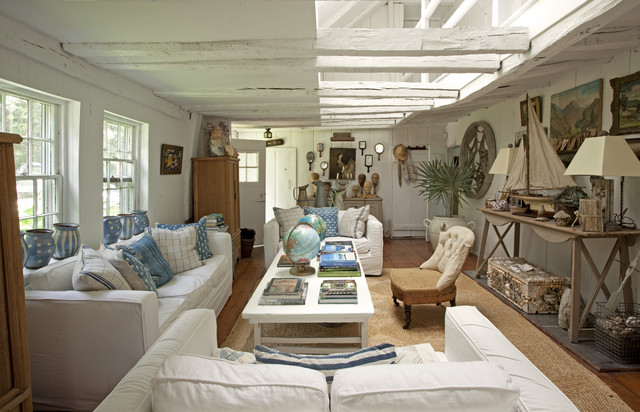 Rooms to Inspire by the Sea by Annie Kelly beach homes houses traditional-living-room
