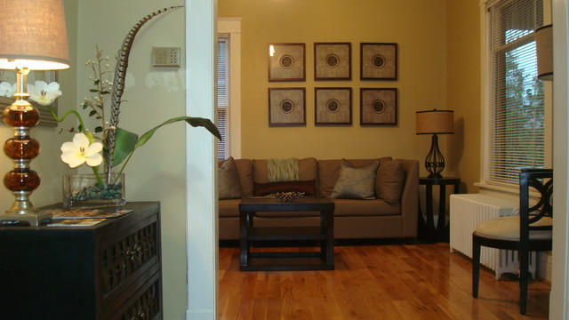 Rooms Under $1,000.00! transitional-living-room