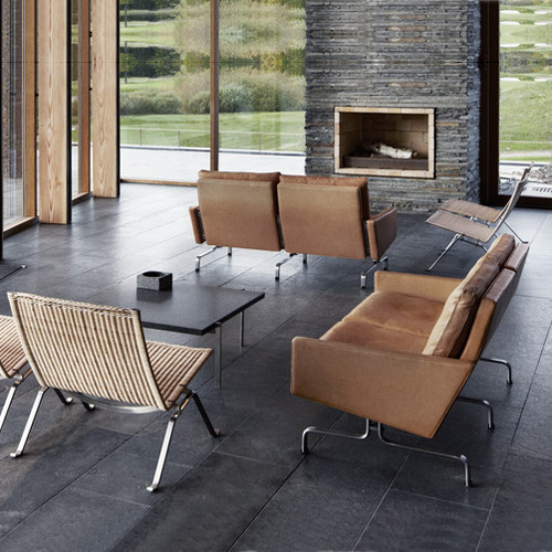 Rooms with our Poul Kjaerholm Reproductions modern-living-room