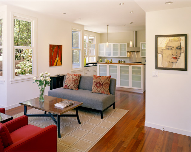 Rose Street Townhouses contemporary-living-room