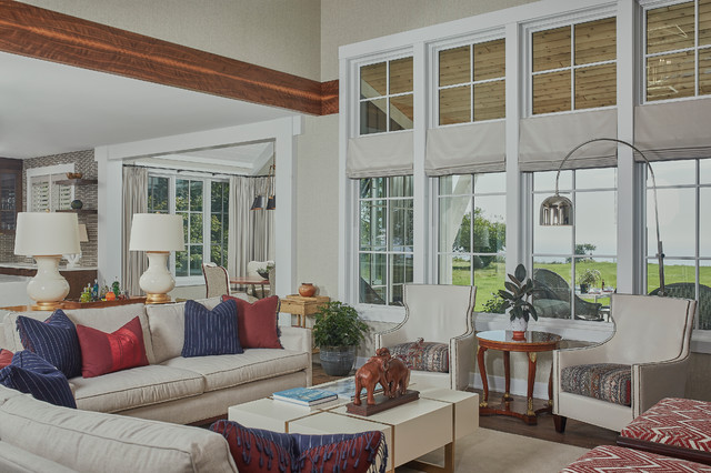 Rosewood Transitional Farmhouse Living Room Grand Rapids By Visbeen Architects
