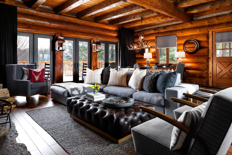 Rosseau Log Cabin Living Room Rustic, Cabin Living Room Furniture