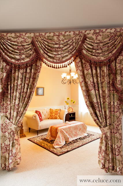 Rosy Queen Swag Valances Window Treatment By Traditional Living Room Seattle