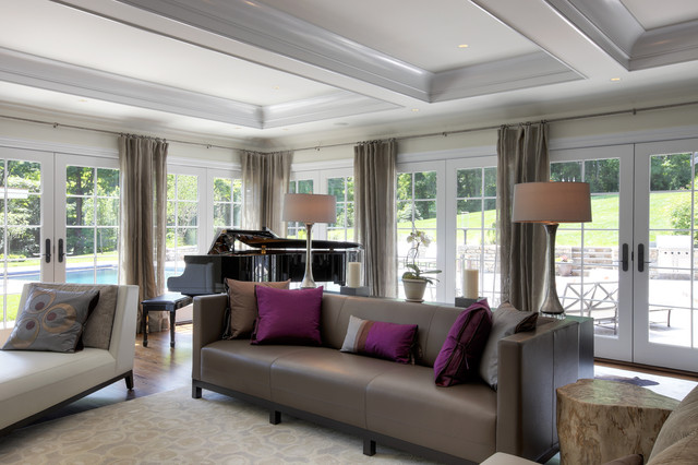 Rough Luxe Farmhouse Transitional Living Room Other