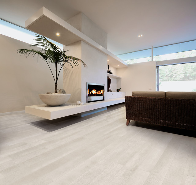 Rovere Bianco Wood Effect Tile Jpg Contemporary Living Room