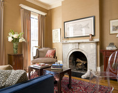 Row House Interiors Living Room eclectic-living-room