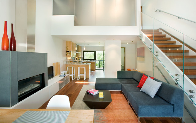 row house living room rowhouse contemporary living room other metro by 13038
